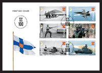 Posti julkaisee Puolustusvoimat 100 -juhlavuoden kunniaksi postimerkkivihkon. Kuva: Posti. Finland, Maa, Stamps, Movie Posters, Seals, Film Poster, Postage Stamps, Stamp, Billboard