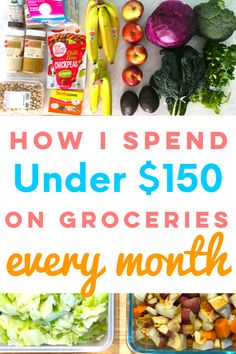 Want tips on buying healthy groceries on a tight budget . - Want tips on buying healthy groceries on a tight budget? If you … – Salad Lunch Prep – - Healthy Recipes On A Budget, Healthy Meal Prep, Budget Meals, Monthly Budget, Eating Healthy For Cheap, Healthy Eating Budget, Eating Clean, Cheap Healthy Snacks, Monthly Expenses