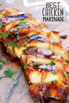 Look no further for the Best Chicken Marinade recipe ever! This easy recipe is sure to become your new favorite! Moist chicken & amazing flavor!