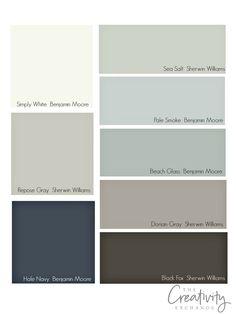 Choosing whole home paint color scheme.