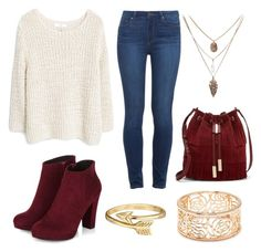 """""""untitled #23"""" by daniella0522 on Polyvore featuring MANGO, Paige Denim, Vince Camuto, Forever 21 and Bling Jewelry"""