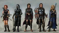 Baldur's Gate Party Time by SirTiefling on DeviantArt Fantasy Team, Elves Fantasy, Fantasy Rpg, Fantasy Characters, Female Characters, Baldur's Gate Portraits, Demi Human, Alone In The Dark, New Nightmare