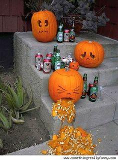 Drunk pumpkin throwing up. ☺