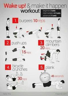 Wake up and get yourself moving with this at-home workout. #exercise