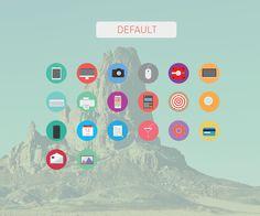 20 free flat icons on Behance