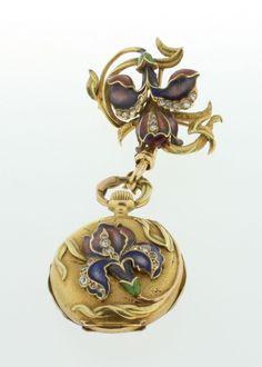 Vintage 18K Yellow Gold Art Nouveau Ladies Corsage Watch