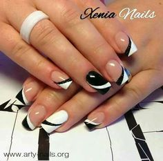 Nails Art French Nere Ideas For 2019 Nails Art French Nere Ideas For can find French nail art and more on our website.Nails Art French Nere Ideas For 2019 Nails A. French Manicure Designs, Simple Nail Art Designs, Easy Nail Art, Fancy Nails, Pretty Nails, Nagellack Design, French Nail Art, Fingernail Designs, Hot Nails