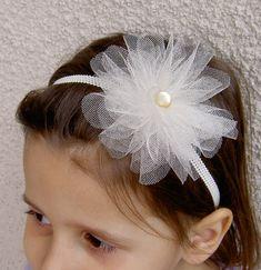 Flower Girl Headband - Flower Girl Hair Accessories - Flower Headband - Junior Bridesmaid Headband -Creme