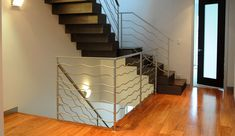 custom modern designed metal railing