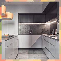 86 modern luxury kitchen design ideas that will inspire you ~ House Design Ideas Kitchen Room Design, Luxury Kitchen Design, Kitchen Cabinet Design, Interior Design Kitchen, Grey Kitchen Cabinets, Kitchen Dining, Kitchen Decor, Island Kitchen, White Wood Kitchens