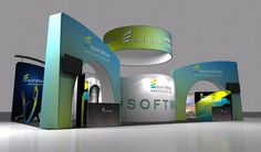 Portable trade show booth design of Hawk Display in the Shanghai Int'l Ad & Sign Technology & Equipment Exhibition. Exhibition Booth Design, Exhibition Display, Trade Show Booth Design, Shanghai, Ads, Technology, Image, Expo Stand, Tech