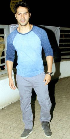 Varun Dhawan at a theatre in Mumbai. #Bollywood #Fashion #Style #Handsome