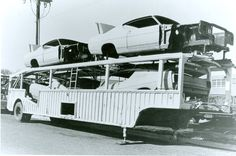 @ Holman & Moody 1967, New 1968 Torinos and Cyclone bodies in white await transformation into Grand National Racers for 1968