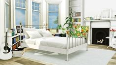 MXIMS: Bed and Plants Conversion • Sims 4 Downloads