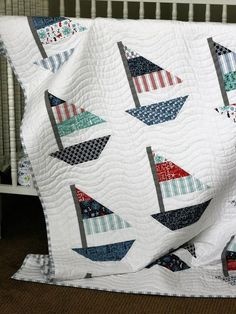 Your place to buy and sell all things handmade Smooth Sailing DIGITAL pattern 728 Quilt Baby, Nautical Baby Quilt, Baby Quilt Patterns, Baby Quilts For Boys, Modern Baby Quilts, Nautical Pillows, Nautical Nursery, Quilting Projects, Quilting Designs