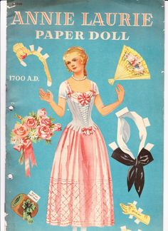 Original 1941 Book of Annie Laurie Paper Doll Uncut | eBay