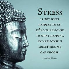 Quotes to inspire your practice Stress is not what happens to us. it's our response to what happens. And response is something we can choose.Stress is not what happens to us. it's our response to what happens. And response is something we can choose. Wisdom Quotes, Me Quotes, Motivational Quotes, Inspirational Quotes, Attitude Quotes, Daily Quotes, Buddhist Quotes, Spiritual Quotes, Osho