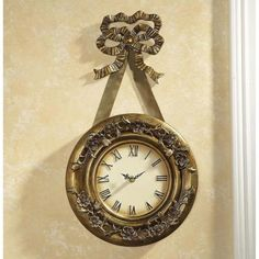 Ribbon Hanging Wall Clock