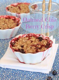 oatmeal chia berry crisp  http://www.eastewart.com/recipes-and-nutrition/oatmeal-chia-berry-crisp/