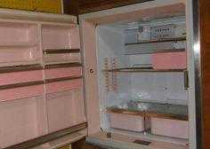 vintage old 1950s refrigerator still working pink Wickenburg Arizona