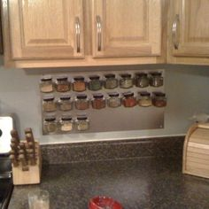 DIY Magnetic Spice Rack. Another style is to use a cookie sheet
