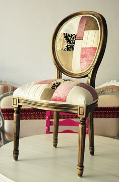 Love this patchwork chair:)