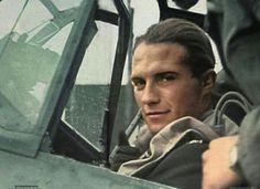 Franz von Werra , Stab II JG3 in the cockpit of his Messerschimitt BF109E4 1940