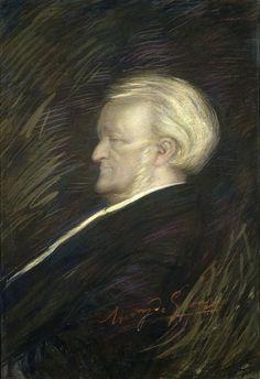 Henry de Groux (1866-1930), Portrait de Richard Wagner.