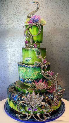 A Fantastic Fantasy Cake by Rosebud Cakes