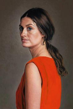 Lambert - 'Red Dress', 2014 Oil on panel; 40 x 60 cm
