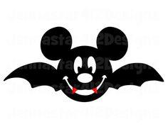 Halloween Mickey Face Bat DIY Printable by JennaStar412Designs, $3.00
