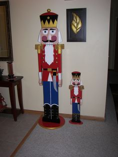 All wood 6ft and 3ft hand-painted Nutcrackers! Facebook-Thewoodbin Christmas Wood, Outdoor Christmas, Christmas Projects, Nutcracker Decor, Nutcracker Christmas, Halloween Party Activities, Christmas Garden Decorations, Christmas Soldiers, Christmas Illustration