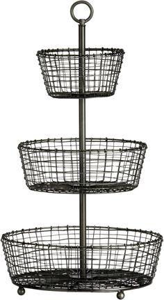 Three-Tier Basket crate and barrel Wire Fruit Basket, Wire Baskets, Baskets On Wall, Crate And Barrel, Diaper Storage, Home Decor Baskets, Basket Decoration, Outdoor Chandelier, Industrial Living