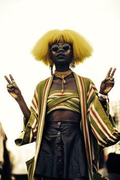 (notitle) - look - Punk Punk Girls, Mode Inspiration, Character Inspiration, Pretty People, Beautiful People, Punk Mode, Fotografie Portraits, Afro Punk Fashion, Fashion Hair