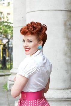 Redhead Pin Up