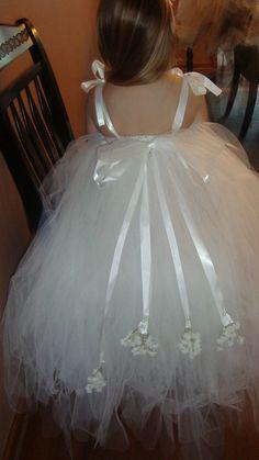 Wedding flower girl dress tutu tulle made full by bellajoshieaiden, $59.99
