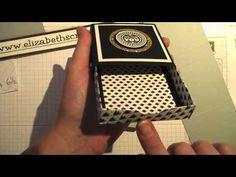 Square Matchbox with Envelope Punch Board