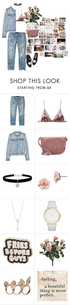 """Bloom Where You Are Planted"" by ac-awesome ❤ liked on Polyvore featuring Hollister Co., Fleur du Mal, MANGO, Anna Field, Betsey Johnson, 1928, EF Collection, Laura Ashley, ban.do and GET LOST"