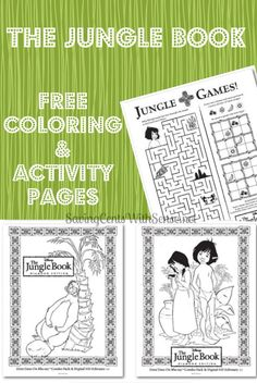 Free Jungle Book Coloring and Activity Pages - the movie is being released 2/11/14 - yay! #bearnecessities #printable #coloringpages
