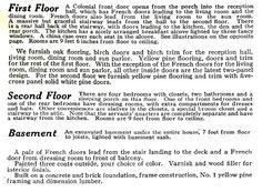 "Sears ""Magnolia"" pre-fabricated house, ca. 1918. The description shows it was pretty fancy."