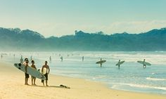 Nosara is a laid-back surf town with a vibrant restaurant scene and stunning beaches. Seven-kilometre-long Playa Guiones is the ideal place to learn to surf, with warm water, gentle breaks and a good surf school