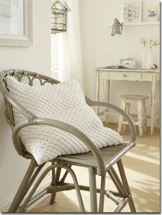 Outdoor Chairs, Outdoor Furniture, Interior Decorating, Interior Design, House Doctor, Crochet Home, Wishbone Chair, Vanity Bench, Interior And Exterior