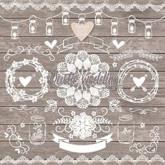 VECTOR Rustic Wedding Elements By Designloverstudio On Creativemarket