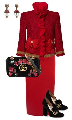 """Untitled #534"" by sh-66-sh on Polyvore featuring Roland Mouret, Dolce&Gabbana and Gucci"