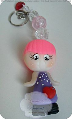 Chaveiros fofurice, bonecas personalizadas, lavável, cores variadas.