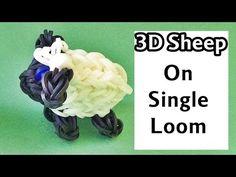 One Loom - Rainbow Loom Charms 3D Sheep (loom / bands animals)