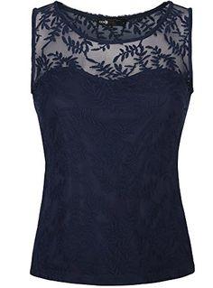 Nuova offerta in #abbigliamento : oodji Ultra Donna Top in Pizzo L Blu a soli 12.2 EUR. Affrettati! hai tempo solo fino a 2016-10-07 23:44:00