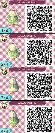 Animal Crossing New Leaf QR codes I DID NOT MAKE THIS but it was so cute I decided to repin it.