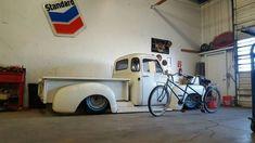 54 Chevy Truck, Chevy 3100, Chevy Pickups, Lowered Trucks, Old Pickup Trucks, Kustom Kulture, Truck Design, Garage Shop, Classic Trucks