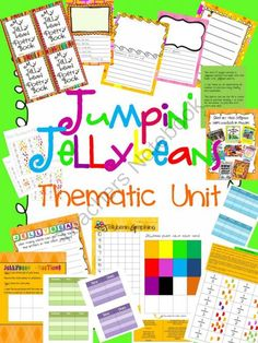 Jumpin Jellybeans Thematic Unit from Brainy-teach Resources on TeachersNotebook.com (24 pages)  - JELLYBEAN UNIT